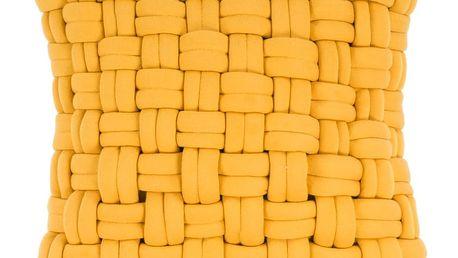 Žlutý polštář ZicZac Clusp, 45x45cm