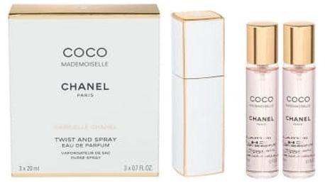 Chanel Coco Mademoiselle 3x20 ml parfémovaná voda Twist and Spray pro ženy