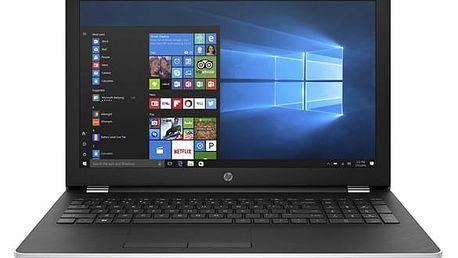 Notebook HP 15-bs015nc stříbrný + dárky (1TT99EA#BCM)