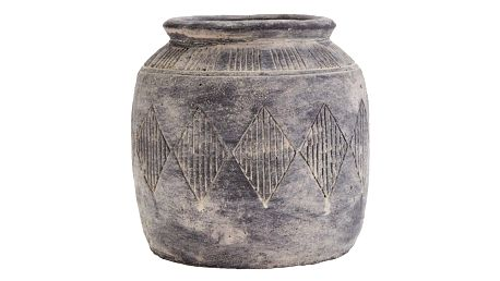 MADAM STOLTZ Cementová váza Antique grey, šedá barva