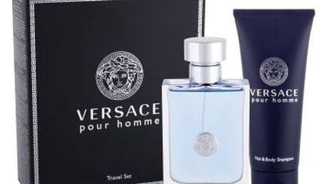 Versace Pour Homme 100 ml dárková kazeta dárková sada pro muže toaletní voda 100 ml + sprchový gel 100 ml