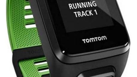 Tomtom Runner 3 Cardio + Music + Bluetooth sluchátka (S) (1RKM.001.11) černá/zelená