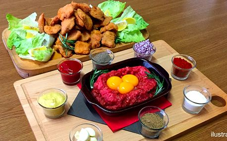 Kilo kuřecích řízečků a tatarák až pro 4 jedlíky