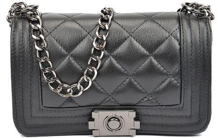 Černá kožená kabelka Isabella Rhea Chica