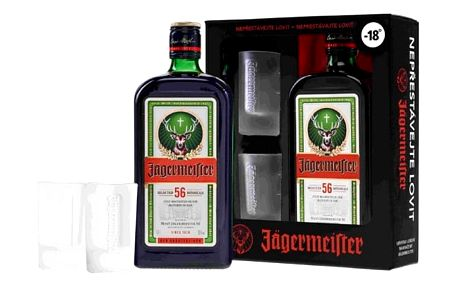 Jagermaister 0,7L+2skleničky