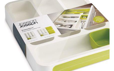 Bílo-zelené přihrádky na příbory Joseph Joseph Drawer Store Cutlery