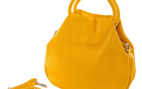 Žlutá kabelka z pravé kůže Andrea Cardone Dolcezza