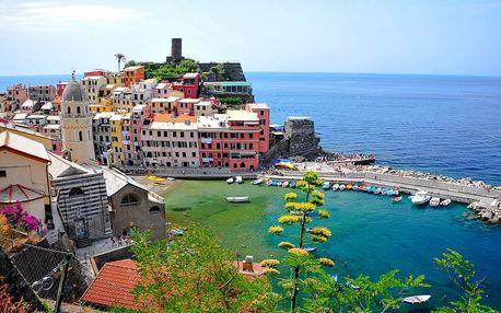 5 denní Toskánsko a Cinque Terre, Pisa, San Gimignano s ubytováním a snídaní