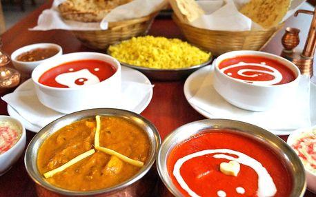 Bohaté indické menu s kuřecím masem pro 2 osoby