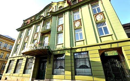 Luxusní ubytování v 4* Grand Hotelu Praha, ubytování, bohaté snídaně, relaxace v privátním wellness.