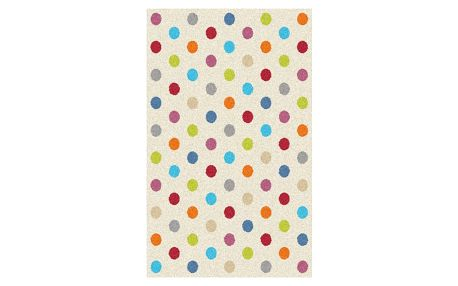 Koberec Universal Norge White Dots, 80x150cm