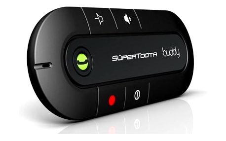SuperTooth CRYSTAL Bluetooth HF na stínítko, stříbrné
