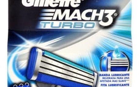 Gillette Mach3 Turbo 2 ks náhradní břit pro muže