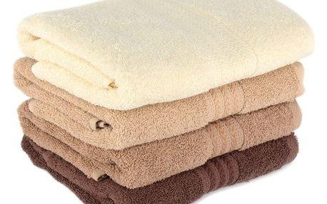 Sada 4 bavlněných ručníků Rainbow Home, 50x90cm