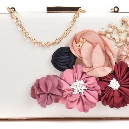 Bílé psaníčko s růžovými květy Sofia Cardoni