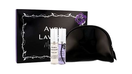 Avril Lavigne Mini Set 20 ml dárková kazeta pro ženy edp Black Star 10 ml + edp Forbidden Rose 10 ml + kosmetická taška