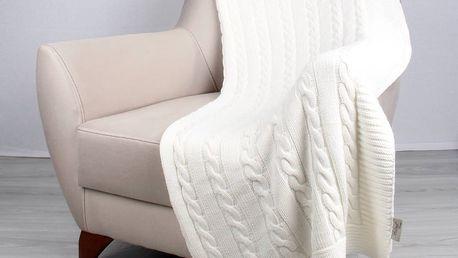 Světle béžová bavlněná deka Carla, 170x130cm