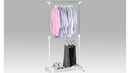 Stojan na šaty, bílý plast/chrom ABD-1213 WT Autronic