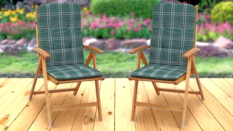 Polohovatelná eukalyptová židle s polstrováním