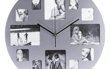 Nerezové nástěnné hodiny Picture 39 cm