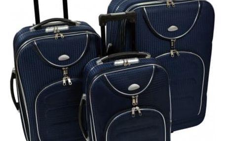 Sada 3 cestovních kufrů na kolečkách, na výběr z 5 barev