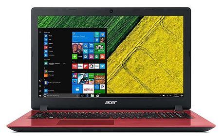 Notebook Acer Aspire 3 (A315-51-31XP) červený + dárky (NX.GS5EC.002)