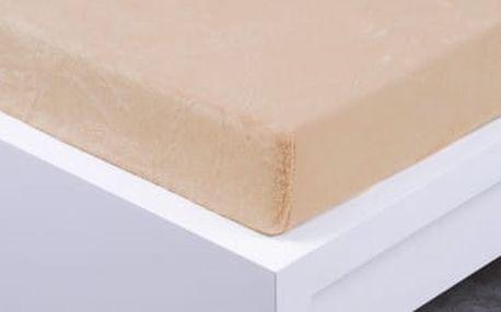 XPOSE ® Prostěradlo mikroflanel Exclusive jednolůžko - bílá káva 90x200 cm