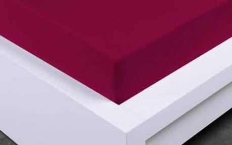 XPOSE ® Jersey prostěradlo Exclusive - vínová 120x200 cm