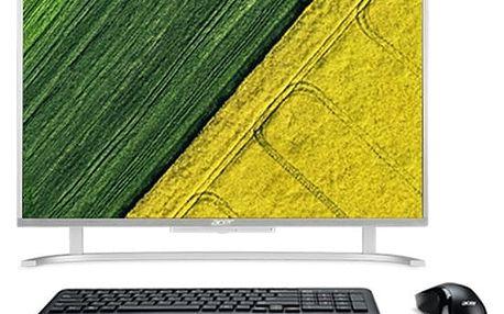 Počítač All In One Acer Aspire AC22-720 stříbrný + dárek (DQ.B7CEC.001)