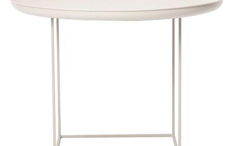 Bílý střední odkládací stolek NORR11 Duke