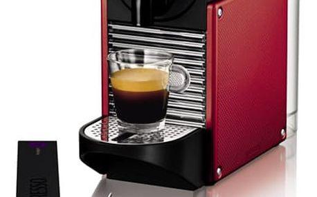Espresso DeLonghi Nespresso Pixie EN125R černé/červené