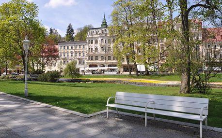 Relaxace v centru Mariánských Lázní v Hotelu Polonia s výhledem na historický park