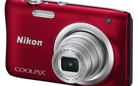 Digitální fotoaparát Nikon Coolpix A100 červený