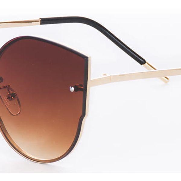 Looks style Zrcadlové sluneční brýle dámské kočičí