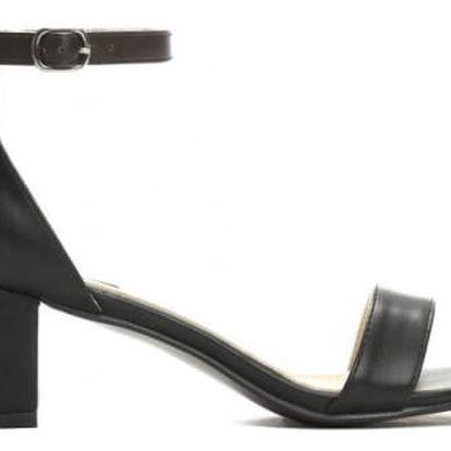 Dámské černé sandály na podpatku Mirror 2204