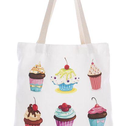 Fashion Icon Módní textilní taška Donuts and Sweets bavlněná