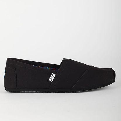 Boty Toms Black/Black Mn Clsc Alprg Černá