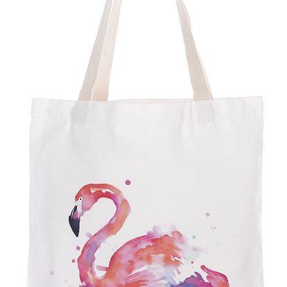 Fashion Icon Módní textilní taška Flamingo bavlněná