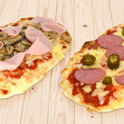 Zdravější varianta pizzy: 1 nebo 2 oválné pinsy