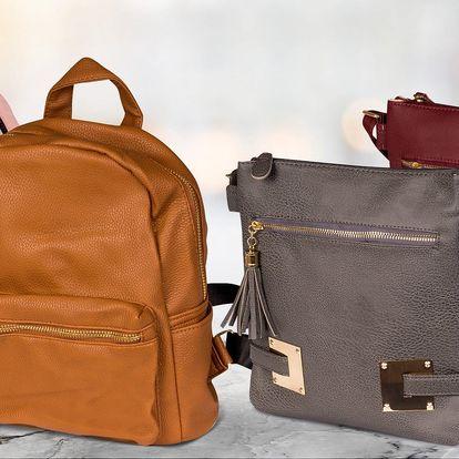Dámské kabelky a batůžky z koženky a textilu