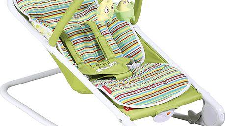 PATRON Lehátko dětské relax – limetkové pruhy