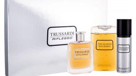 Trussardi Riflesso 100 ml dárková kazeta dárková sada pro muže toaletní voda 100 ml + sprchový gel 200 ml + deodorant 100 ml