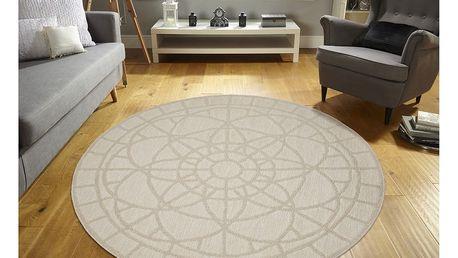 Vysoce odolný koberec Webtappeti Tondo Ecru, ⌀ 194 cm