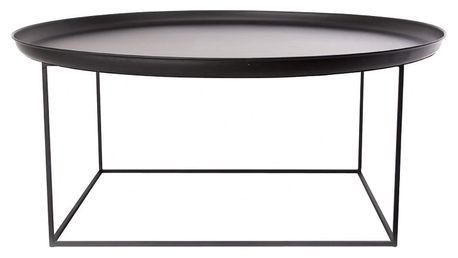 Černý velký odkládací stolek NORR11 Duke