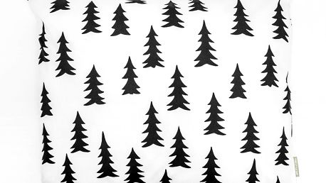 Fine Little Day Povlak na polštář Gran 50x60 cm, černá barva, bílá barva, textil