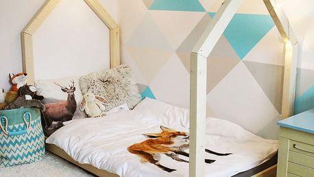 Dětská postel z borovicového dřeva Benlemi Tery,80x160cm