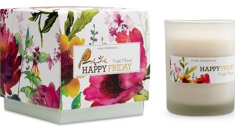 Vonná svíčka s vůní čerstvých květin HF Living, doba hoření 40 hodin