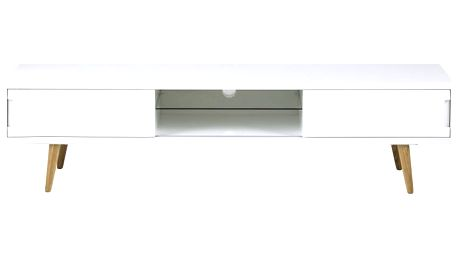 Bílý TV stolek Actona Elise, 180 x 46 cm