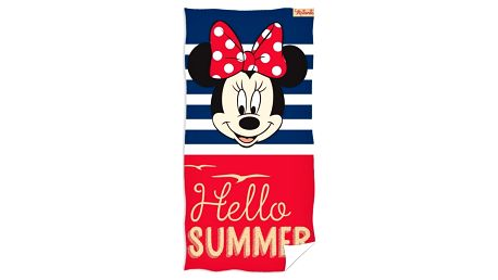 TipTrade Osuška Minnie Mouse Hello Summer, 70 x 140 cm