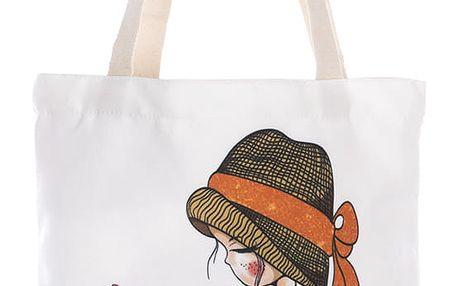 Fashion Icon Módní textilní taška Nice Day holčička bavlněná